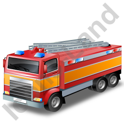 Fire Truck Yellow Icon