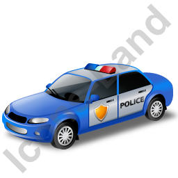 Police Car Blue Icon