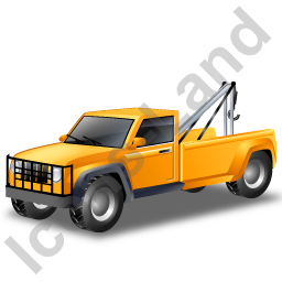 Tow Truck Yellow Icon, PNG/ICO, 256x256