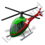Air Ambulance Green Icon, PNG/ICO, 64x64