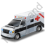 Ambulance Black Icon, PNG/ICO, 64x64