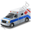 Ambulance Blue Icon, PNG/ICO, 64x64