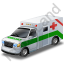 Ambulance Green Icon, PNG/ICO, 64x64