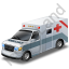 Ambulance Grey Icon