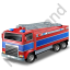Fire Truck Blue Icon