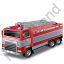 Fire Truck Grey Icon, PNG/ICO, 64x64