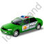 Police Car Green Icon