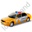 Police Car Yellow Icon