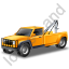 Tow Truck Yellow Icon, PNG/ICO, 64x64