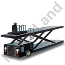 Container Loader Black Icon, PNG/ICO, 128x128