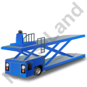 Container Loader Blue Icon