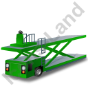 Container Loader Green Icon