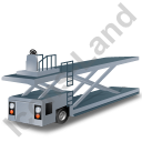 Container Loader Grey Icon, PNG/ICO, 128x128