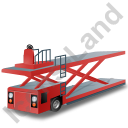 Container Loader Red Icon