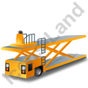 Container Loader Yellow Icon, PNG/ICO, 128x128