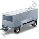 Ground Power Unit Trailer Grey Icon, PNG/ICO, 128x128