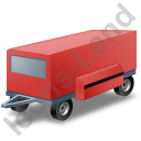 Ground Power Unit Trailer Red Icon, PNG/ICO, 128x128