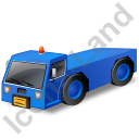 Pushback Tug Blue Icon, PNG/ICO, 128x128