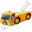Pushback Tug Yellow Icon, PNG/ICO, 128x128