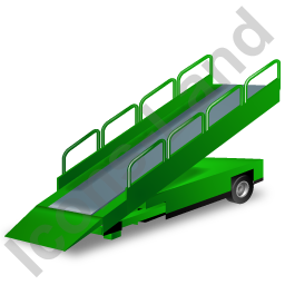 Belt Loader Green Icon, PNG/ICO, 256x256