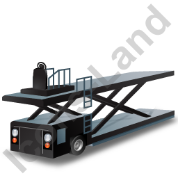 Container Loader Black Icon, PNG/ICO, 256x256