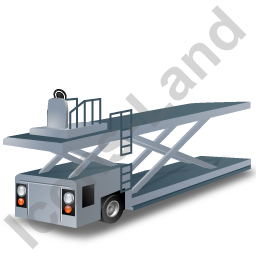 Container Loader Grey Icon, PNG/ICO, 256x256