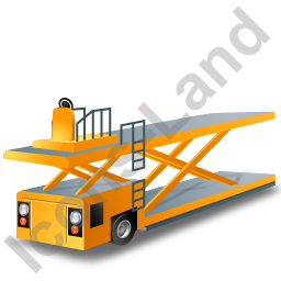 Container Loader Yellow Icon, PNG/ICO, 256x256