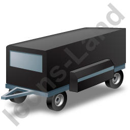 Ground Power Unit Trailer Black Icon