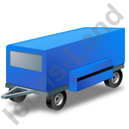 Ground Power Unit Trailer Blue Icon