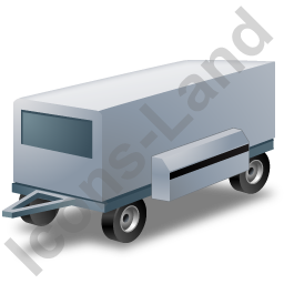 Ground Power Unit Trailer Grey Icon, PNG/ICO, 256x256