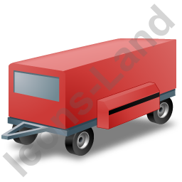 Ground Power Unit Trailer Red Icon, PNG/ICO, 256x256