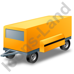 Ground Power Unit Trailer Yellow Icon, PNG/ICO, 256x256