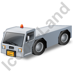 Pushback Tug Grey Icon, PNG/ICO, 256x256
