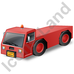 Pushback Tug Red Icon