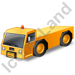 Pushback Tug Yellow Icon, PNG/ICO, 256x256