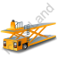 Container Loader Yellow Icon, PNG/ICO, 64x64