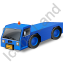 Pushback Tug Blue Icon, PNG/ICO, 64x64