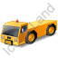 Pushback Tug Yellow Icon, PNG/ICO, 64x64
