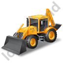 Backhoe Loader Yellow Icon