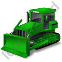 Bulldozer Green Icon, PNG/ICO, 128x128