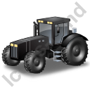 Farm Tractor Black Icon, PNG/ICO, 128x128