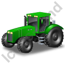 Farm Tractor Green Icon