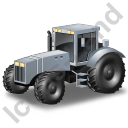 Farm Tractor Grey Icon