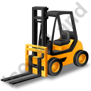 Forklift Truck Yellow Icon