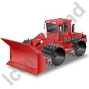 Landfill Compactor Red Icon