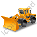 Landfill Compactor Yellow Icon