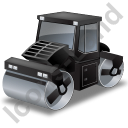 Road Roller Black Icon