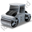 Road Roller Grey Icon