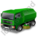 Road Sweeper Green Icon