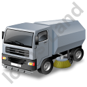 Road Sweeper Grey Icon, PNG/ICO, 128x128